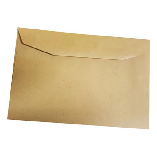 5 Star Office Envelopes C6 Recycled Lightweight Wallet Gummed 75gsm Manilla C6 [Pack 2000]