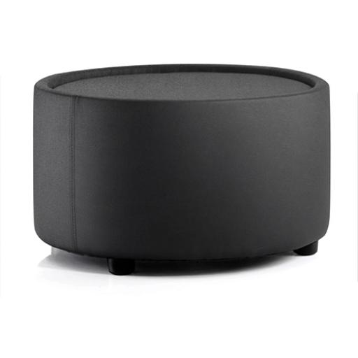 Trexus Neo Tub Table Circular 660x660x375mm Pre-assembled Fabric Black