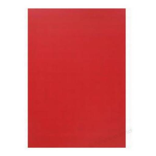 GBC PolyCovers (A4) Opaque Binding Covers Polypropylene 300 Micron (Red) - 1 x Pack of 100 Binding Covers