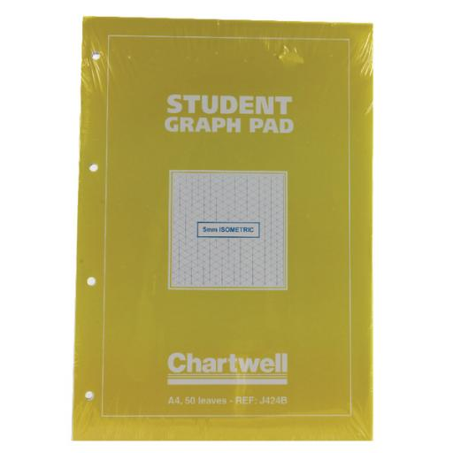 Guildhall Yellow/Blue Student A4 Graph Pad (Pack of 10) J424B