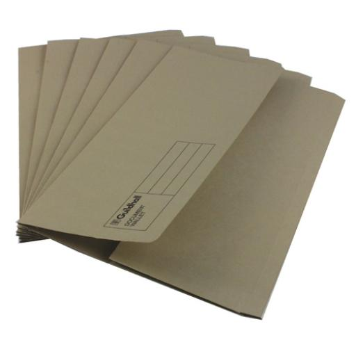Guildhall Foolscap Buff Document Wallet Pack of 50 GDW1-BUF