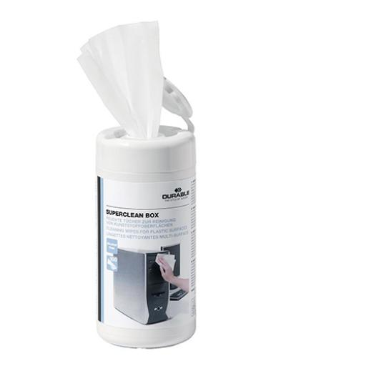 Durable Superclean Tub Moist Cleaning Wipes Pre-saturated Ref 5708 [Tub 100]