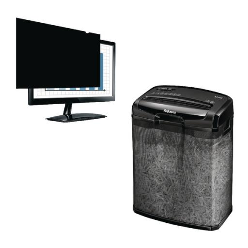 Fellowes 23in Widescreen PrivaScreen Privacy Filter with Free Shredder BB810524