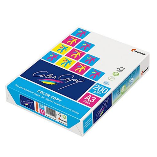 Color Copy Card Paper Premium Super Smooth A3 200gsm FSC White Ref COLA3200 [250 Sheets]