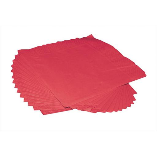 2-Ply (400 x 400mm) Square Napkins (Red) 1 x Pack of 125 Napkins