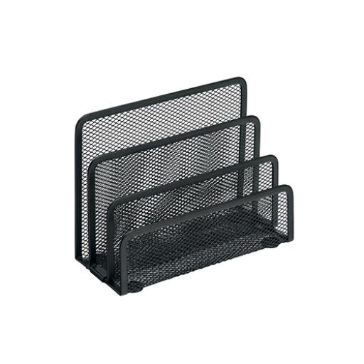 Vertical Wire Mesh 3 Slot Sorter (Black)