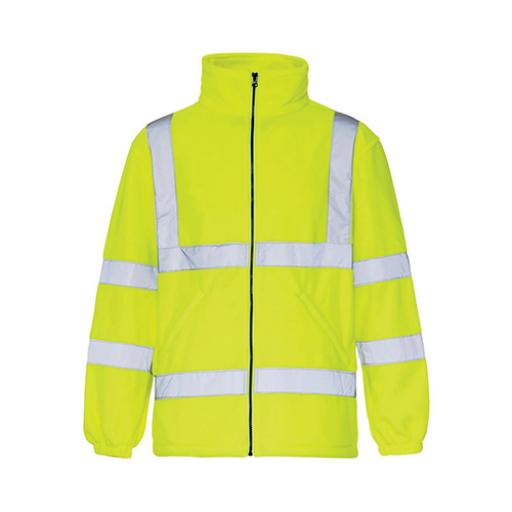 High Visibility Fleece Jacket Poly with Zip Fastening 3XL Yellow *Approx 2/3 Day Leadtime*