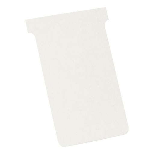 Nobo T-Cards 160gsm Tab Top 15mm W123x Bottom W112x Full H178mm Size 4 White Ref 2004002 [Pack 100]