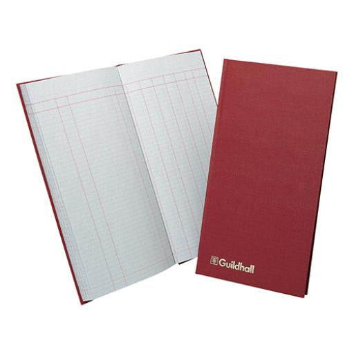 Guildhall Petty Cash Book Ruled 1 Debit 7 Credit 80 Pages 152x298mm Red Ref T272Z