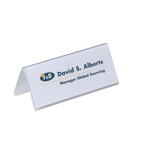 Durable Inserts for Duraprint Table Place Name Holder 63x150mm Ref 1459 [Pack 40]