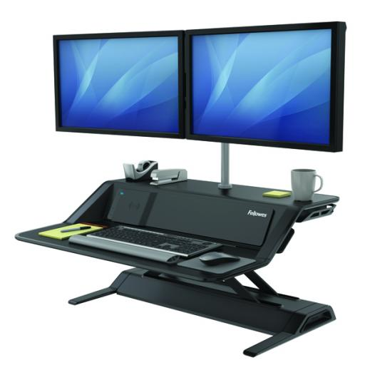 Fellowes Lotus DX Sit-Stand Workstation Black 8080301