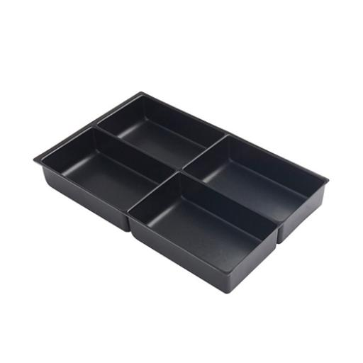 Bisley Insert Tray 2/24 Plastic for Storage Cabinet 24 Sections H51mm Black Ref 227P1 [Pack 5]