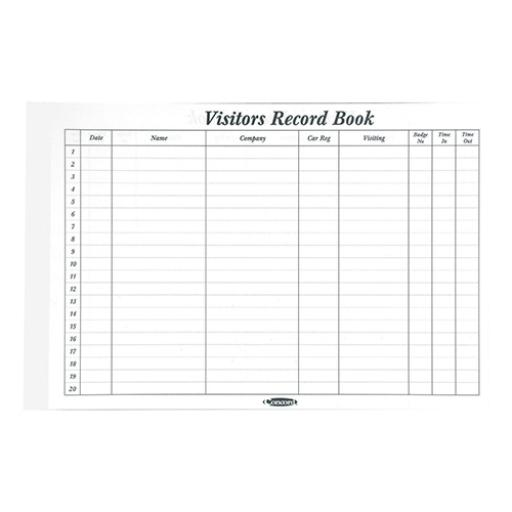 Concord CD14P Refill for Visitors Book 50 Sheets 2000 Entries 230x335mm Ref 85801/CD14P