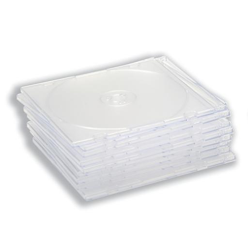 CD Slimline Jewel Case Clear [Pack 10]