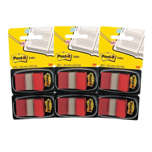 Post-it Index Dispenser Red (Pack of 2x50) 3For2 3M810107