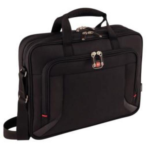 Wenger Prospectus Briefcase with Tablet Pocket (Black) for 15.6 inch to 16 inch Laptop Ref SGWT13-BC01