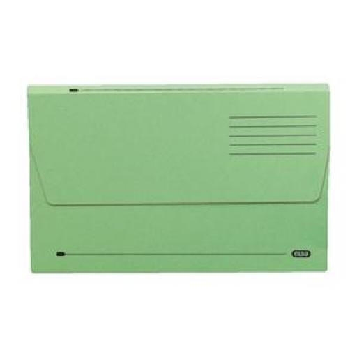 Elba (A4) Document Wallet Half Flap Mediumweight 285gsm Green (Pack of 50)