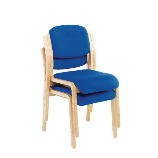 First Wood Side Chair Blue