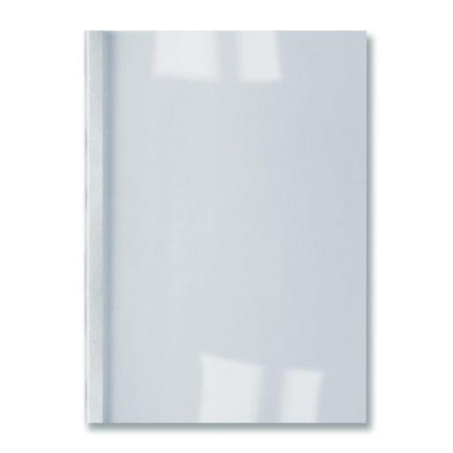 GBC Thermal Binding Covers 1.5mm Leathergrain White Ref IB451706 [Pack 100]