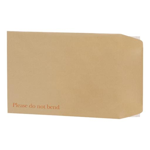 5 Star Office Envelopes Recycled Board-backed Hot Melt Peel and Seal 350x248mm 120gsm Manilla [Pack 125]