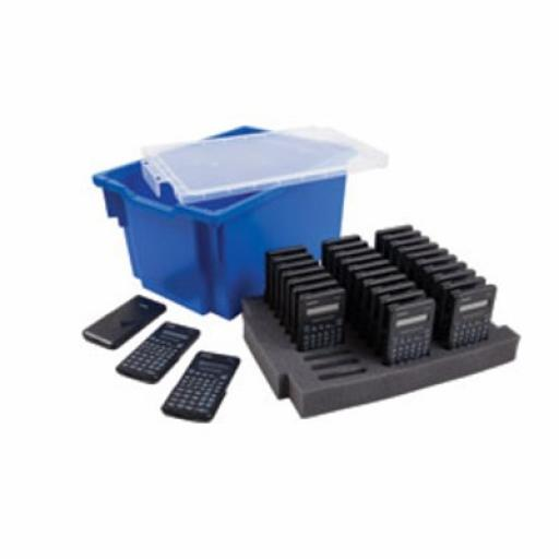 Aurora CK50 Class Pack (30 x AX-501 Calculators) with Gratnells Extra Deep Storage Tray