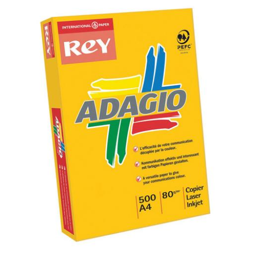 Adagio Bright Assorted A4 Coloured Card 160gsm (Pack of 250) 201.2000