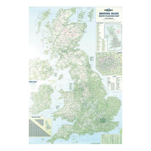 Map Marketing British Isles Motoring Map Unframed 12.5 Miles to 1 inch Scale W830xH1200mm Ref BIM