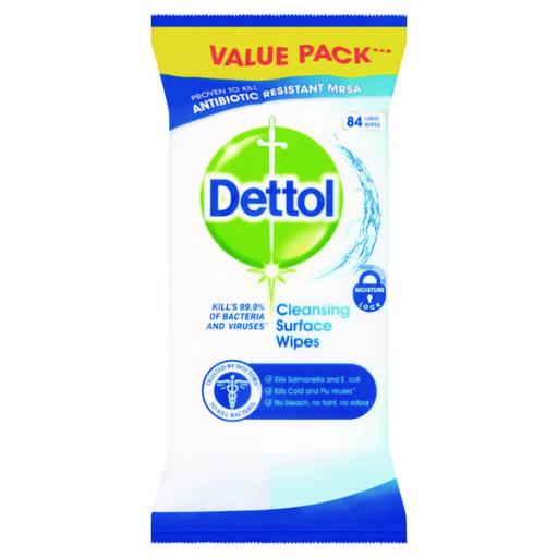 Dettol Antibacterial Surface Cleanser Wipes (Pack of 126) RB784365