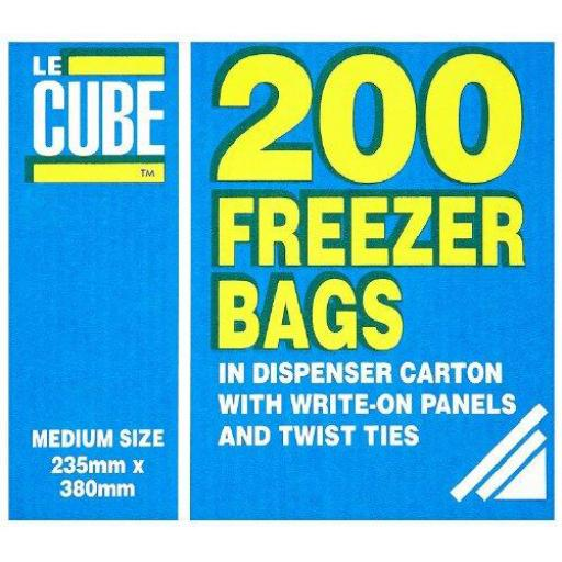 LeCube Food/Freezer Bags Medium Ref 391 [Pack 200]