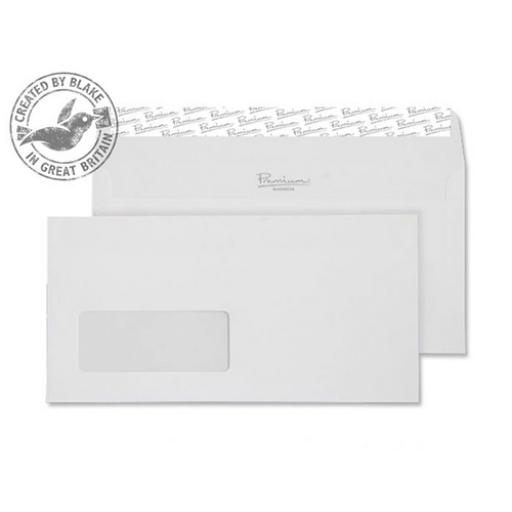 Blake Premium Wallet Window P&S Wove Finish High White DL [Pack 500] Ref 35884 [3 For 2] Apr-Jun 2018