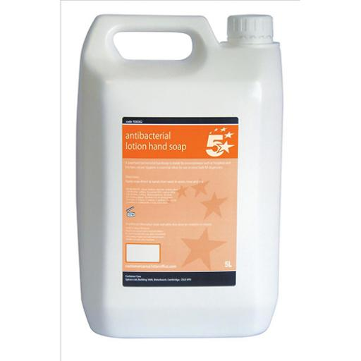 5 Star Facilities Antibacterial Lotion Hand Soap 5 Litre