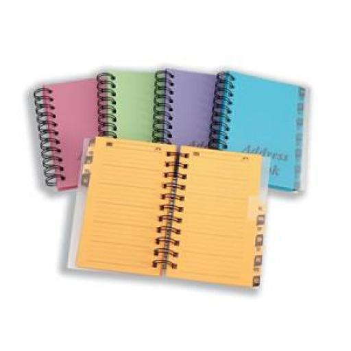 Concord Telephone Address Book Wirebound 13 Part A-Z Bright (Assorted)