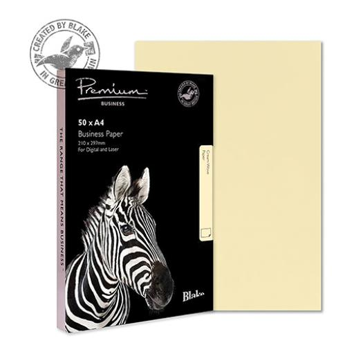 Blake Premium Business (A4) 120g/m2 Woven Paper (Cream) Pack of 50
