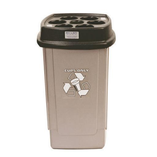 Disposable Cup Bin Black /Silver 367050