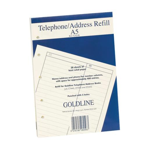 Goldine A5 Telephone Address Book Refill GA5/R