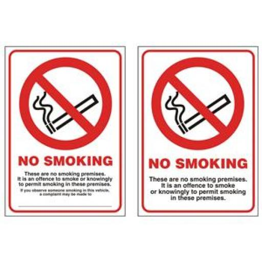 Stewart Superior SCPO004 Self-Adhesive PVC Sign (105x148mm) - No Smoking These are No Smoking Premises
