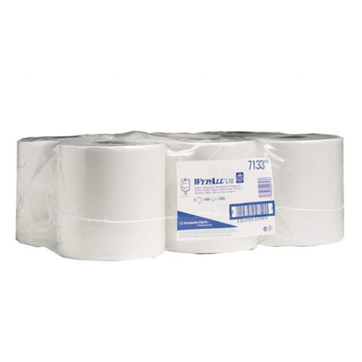 Wypall L10 Wipers Centrefeed One-Ply White (1 x Pack of 6 Rolls)