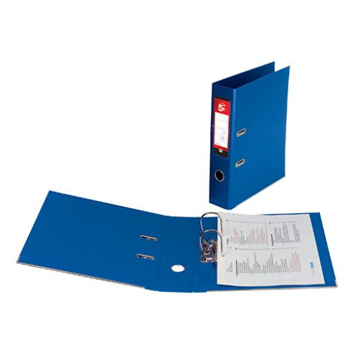 5 Star Office Lever Arch File Polypropylene Capacity 70mm A4 Royal Blue [Pack 10]