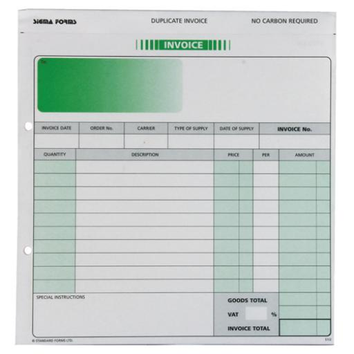 Custom Forms White/Pink 2-Part Invoice (Pack of 50) HCI02
