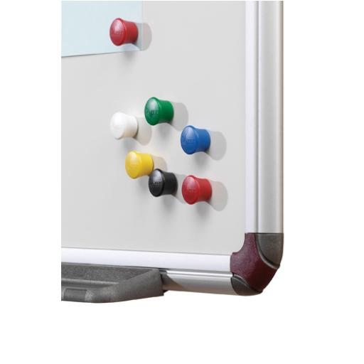 Nobo Assorted 18mm Drawing Pin Magnets (Pack of 12) 1901102