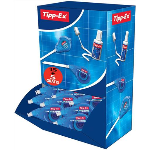 Tipp-Ex Easy-correct Correction Tape Roller 4.2mmx12m Ref 895951 [Pack 15 & 5]