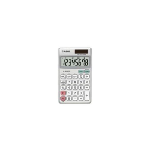 Casio 8-Digit Pocket Calculator (Grey)