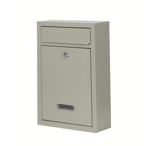 Mail Box Front-loading Rustproof 2 Keys W220xD81xH320mm Grey