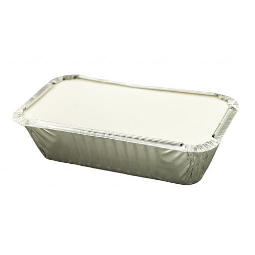 Caterpack Foil Food Container with Lid W200xD100mm Ref 03884 [Pack 28]