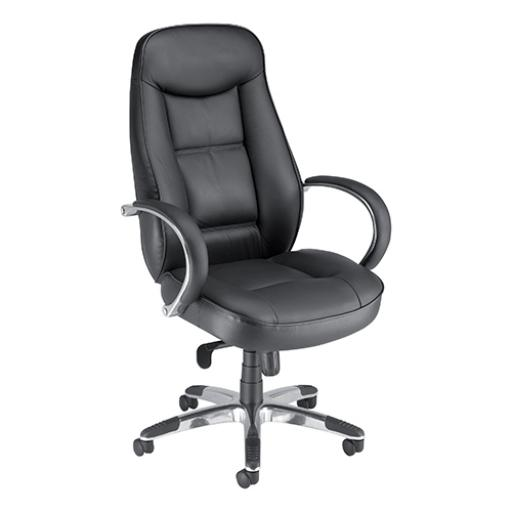 Adroit Languedoc Premium Leather Exec Chair 550x530x480-560mm Ref 10488-01