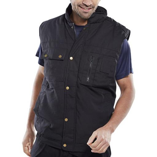 Click Workwear Hudson Bodywarmer Black Xl