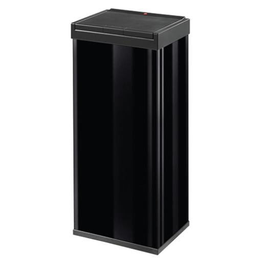 Big Bin Touch Steel and Impact-resistant Plastic Flat Packed 60 Litre Black Ref 0860-701