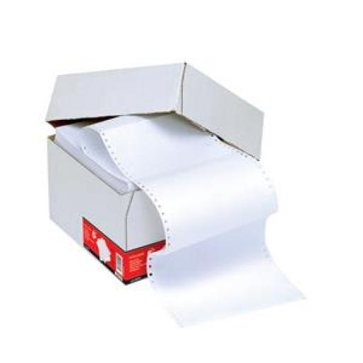 5 Star Office Listing Paper 1-Part Microperforated 60gsm 12inchx235mm Plain [2000 Sheets]