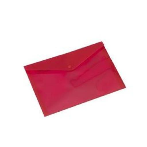 Rexel Popper Wallets (Red) - 1 x Pack of 5 Wallets