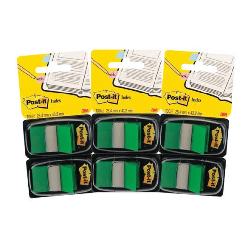 Post-it Index Dispenser Green (Pack of 2x50) 3For2 3M810109